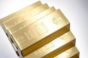 Gold Bar Tissue Box